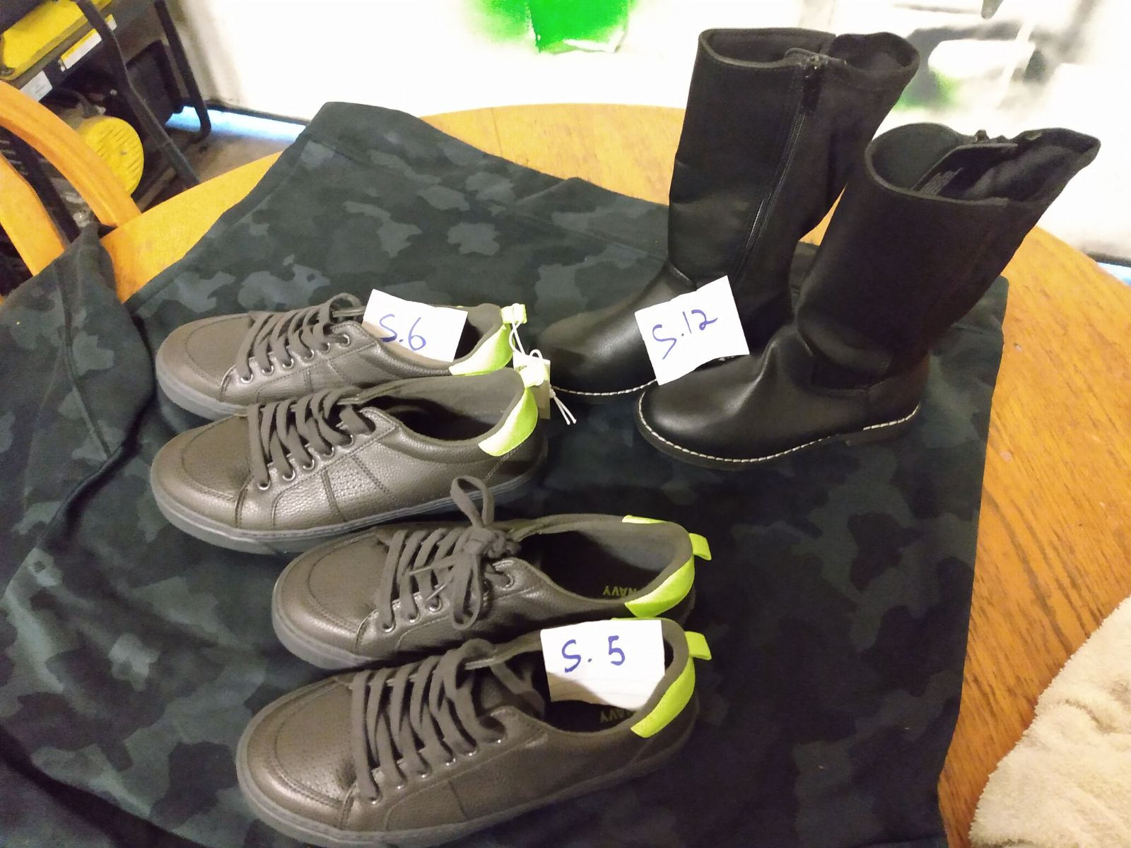 Kids youth shoes size 5,6 and 12