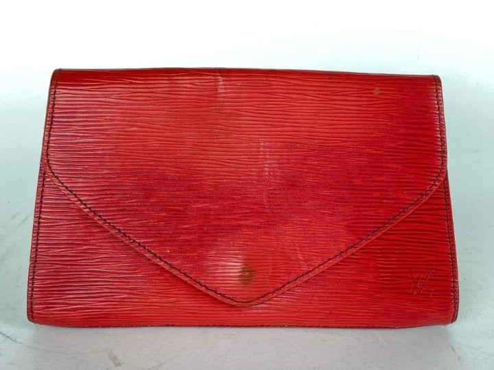 Louis Vuitton Red Epi Art Deco Clutch