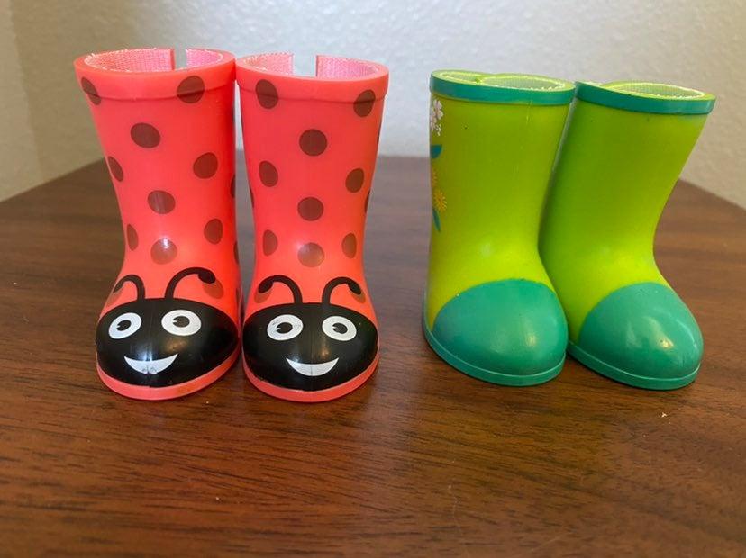 Wellie wishers rainboots for dolls