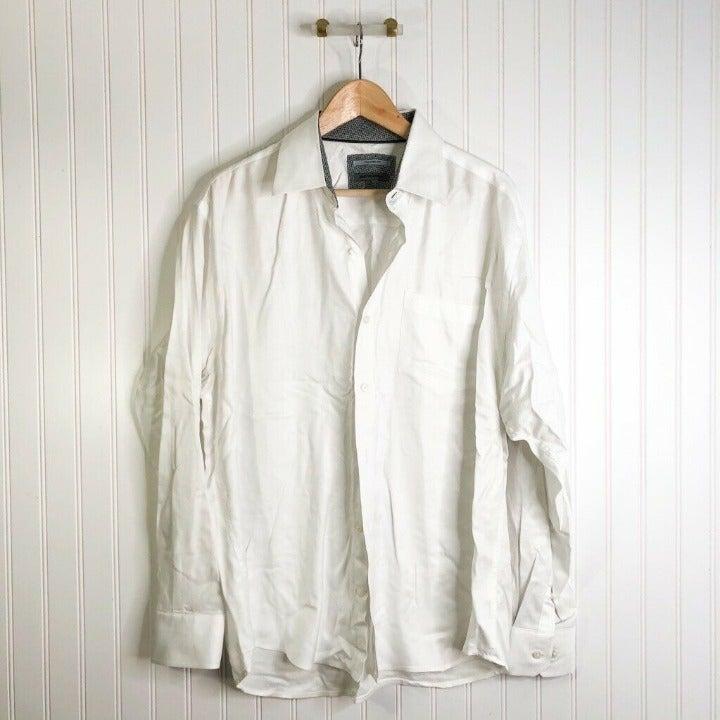 Johnston & Murphy Mens Button Up Shirt W