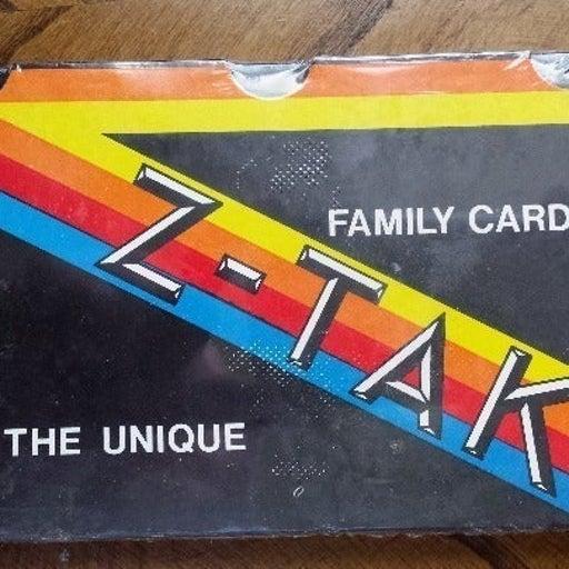 Vintage Z TAK Unique Family Card Game
