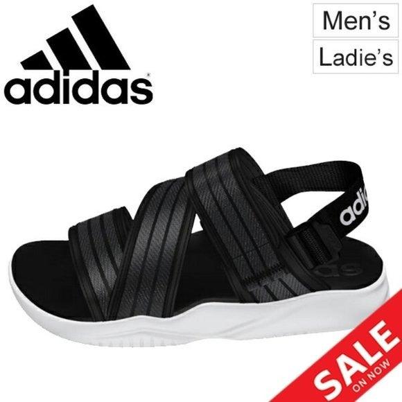 Adidas Size 9 Black/Grey 90s Sandal. New