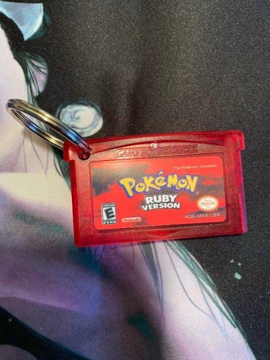 Pokemon Gameboy Cartridge keychain