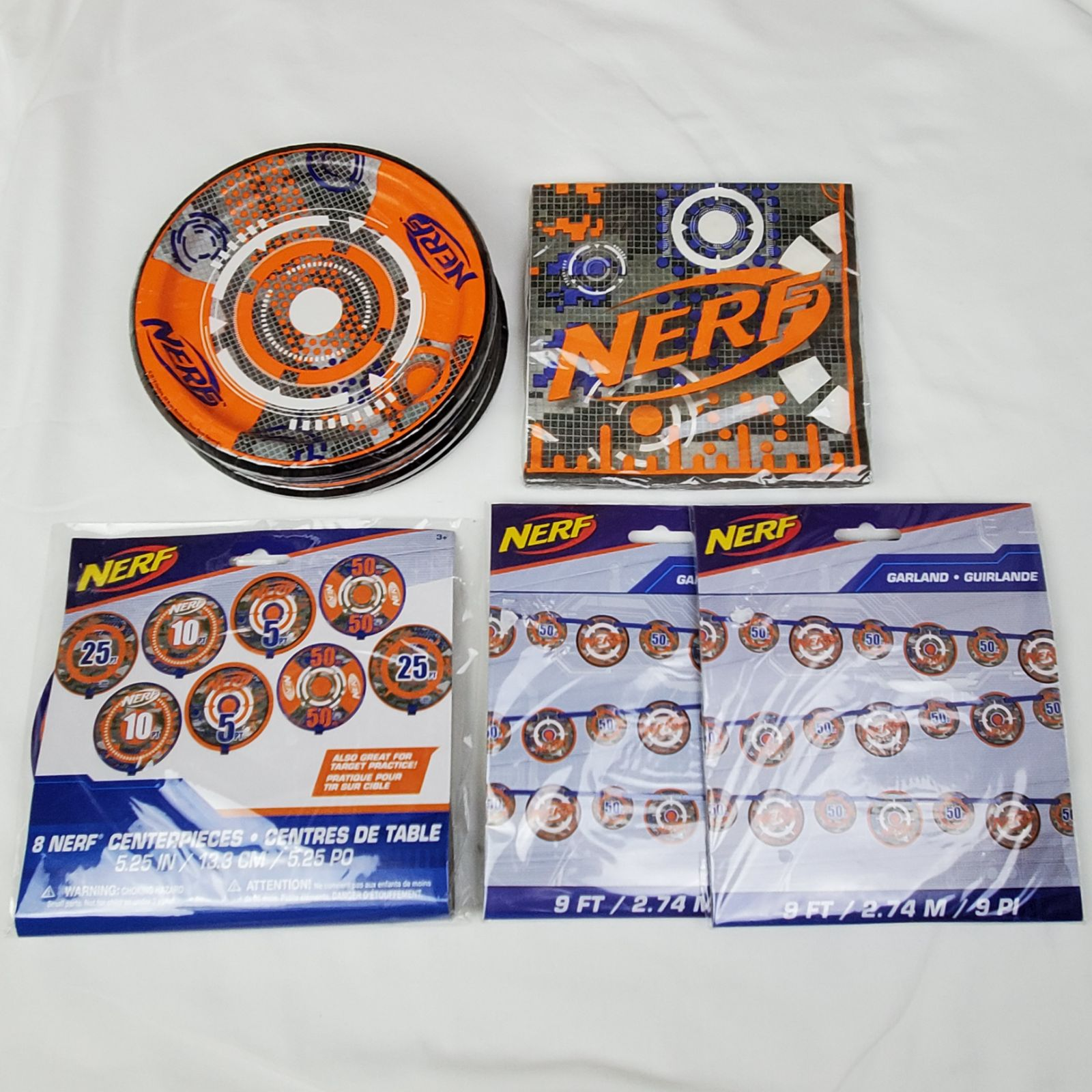NERF Birthday Party Pack Plates Napkins