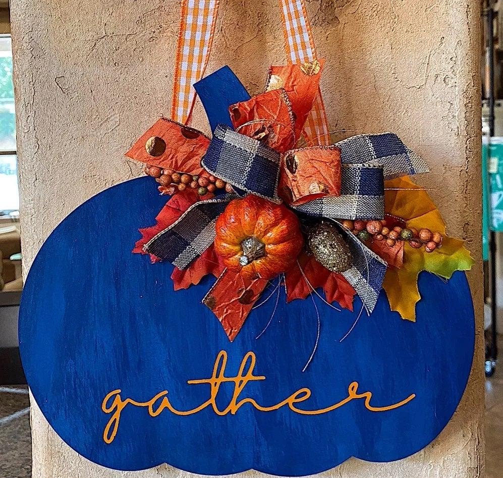 Decorative Pumpkin Door Hanger