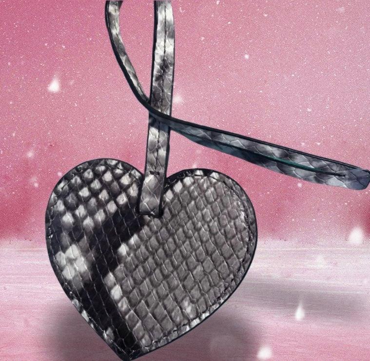 Michael Kors leather heart Charm NWT