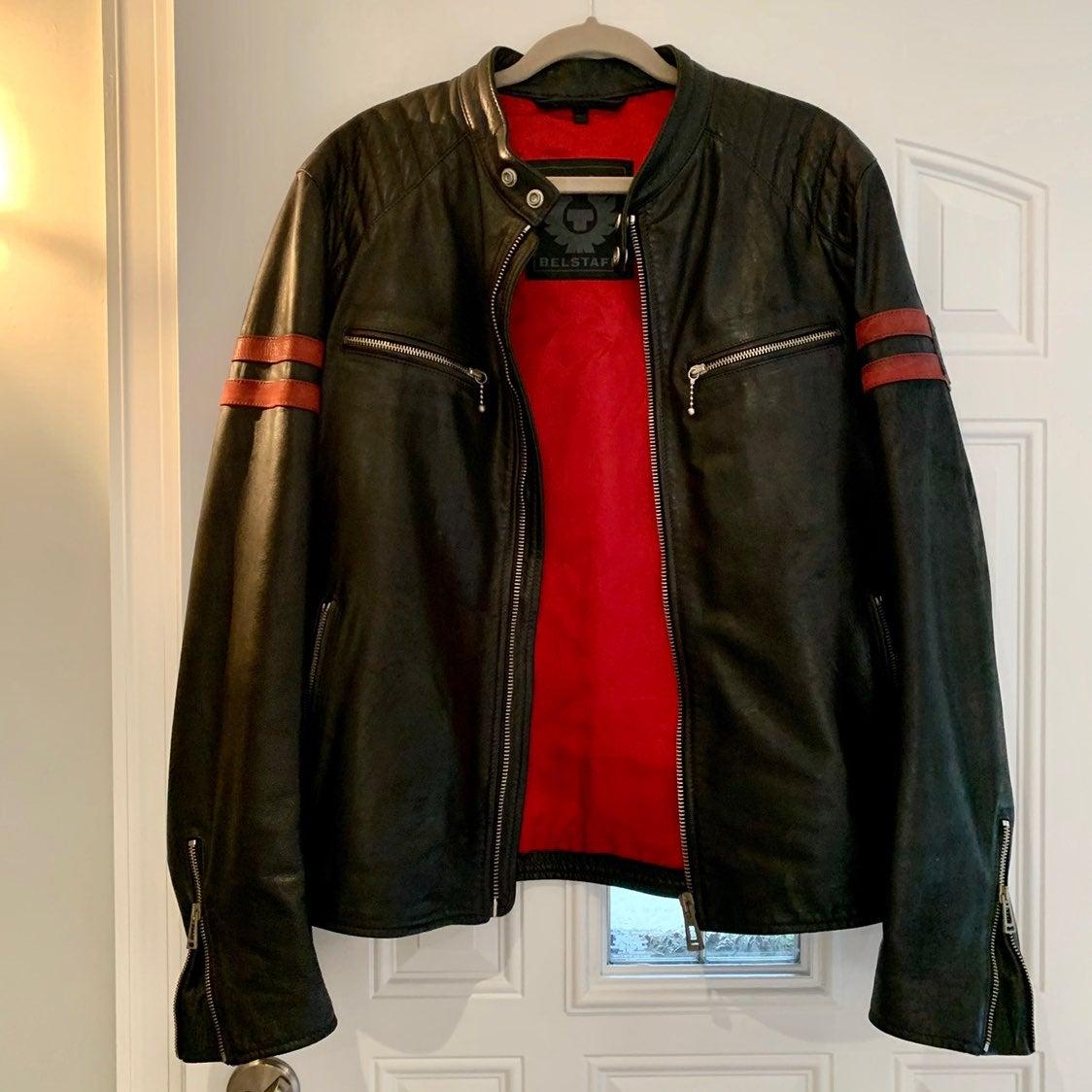 Belstaff men's leather jacket XL