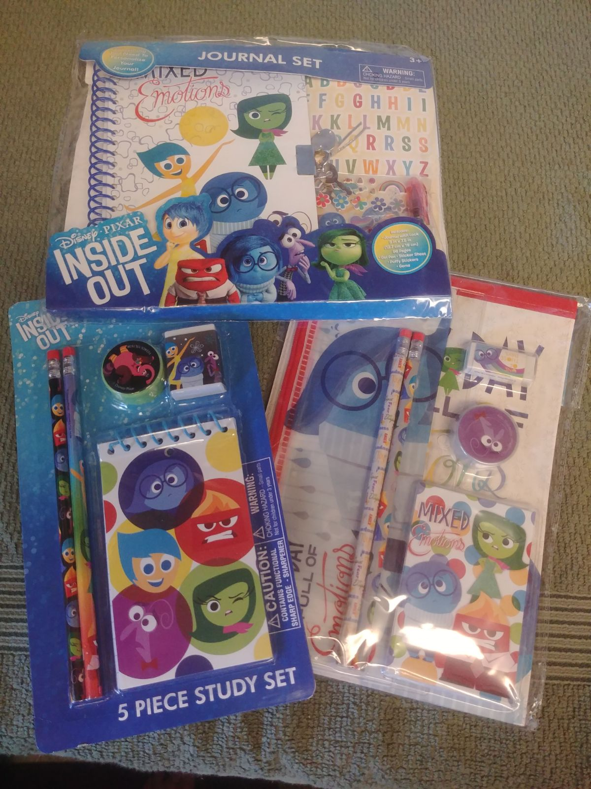 Pixar Inside Out School Supply Set