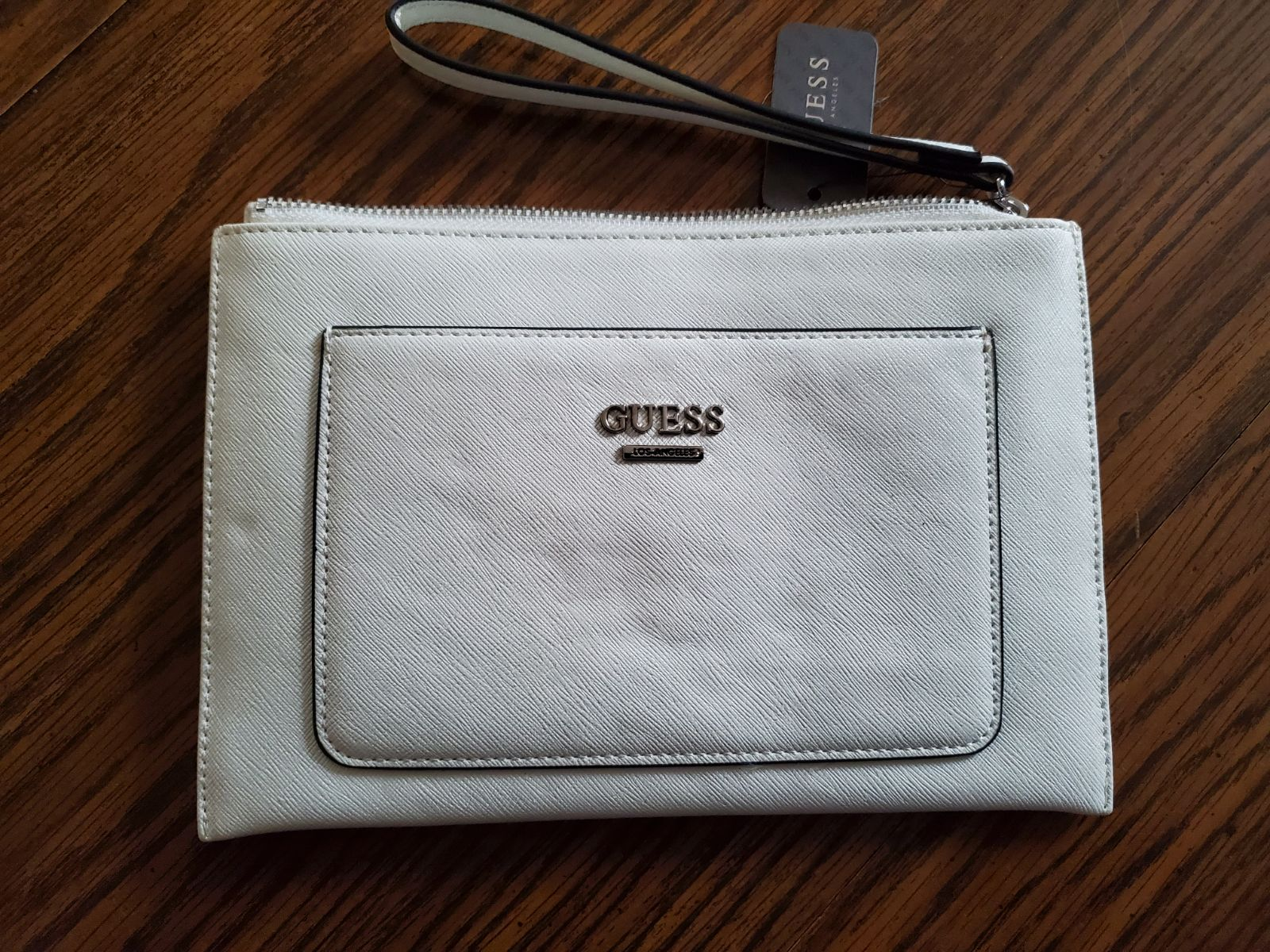 Guess clutch large flat top zip