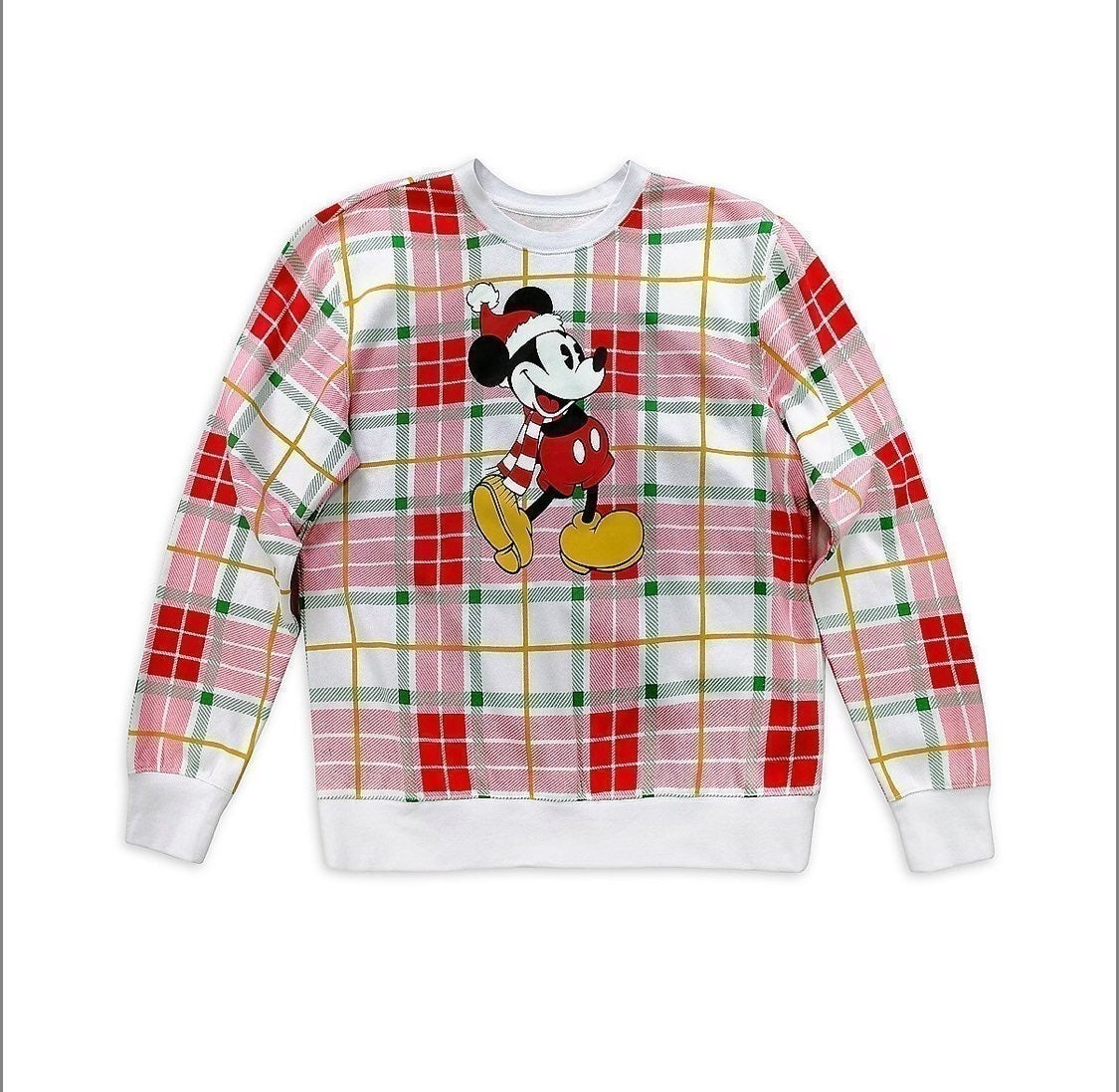 Mickey Mouse Holiday Plaid Pullover for