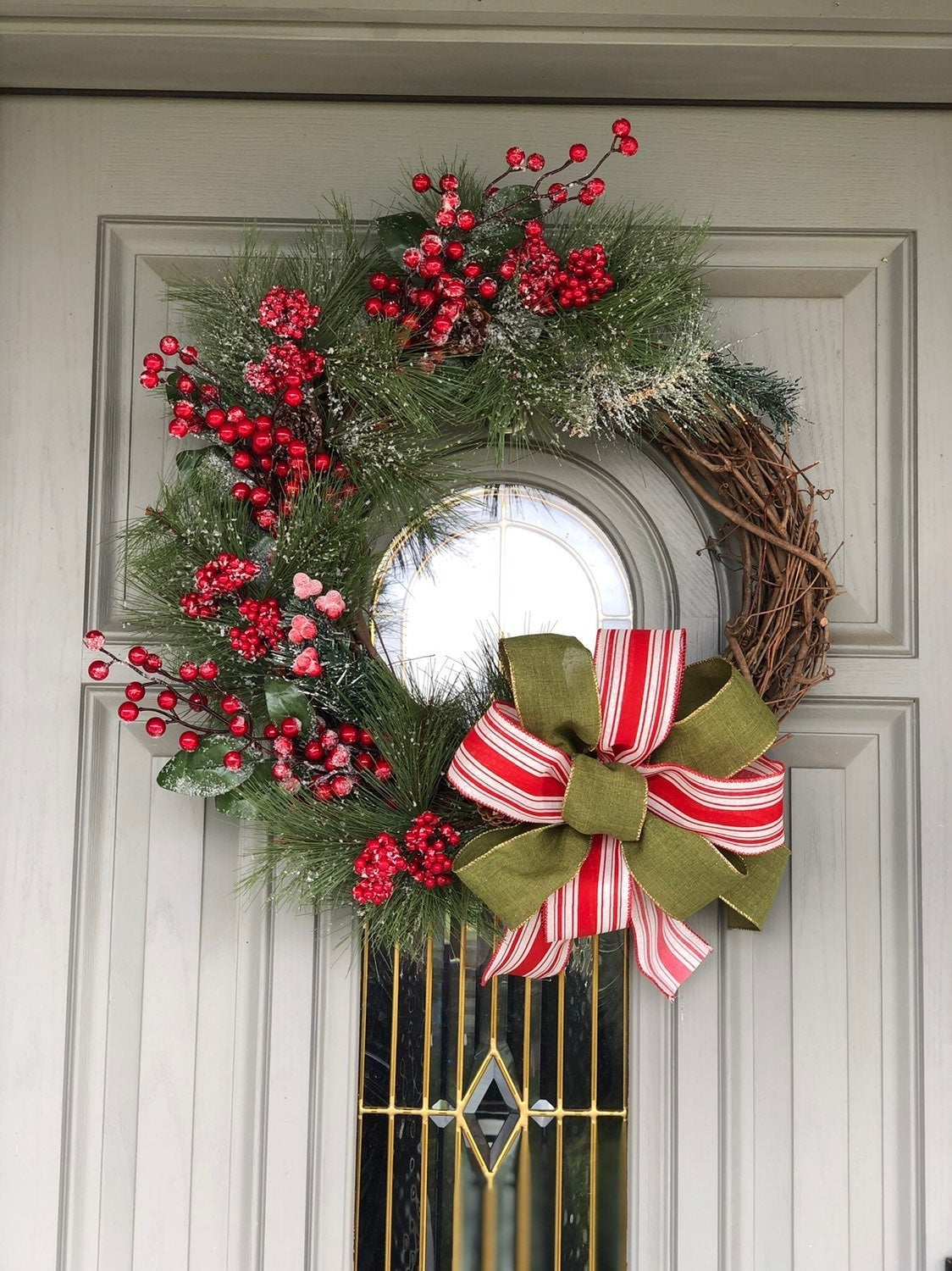 Grapevine christmas wreath