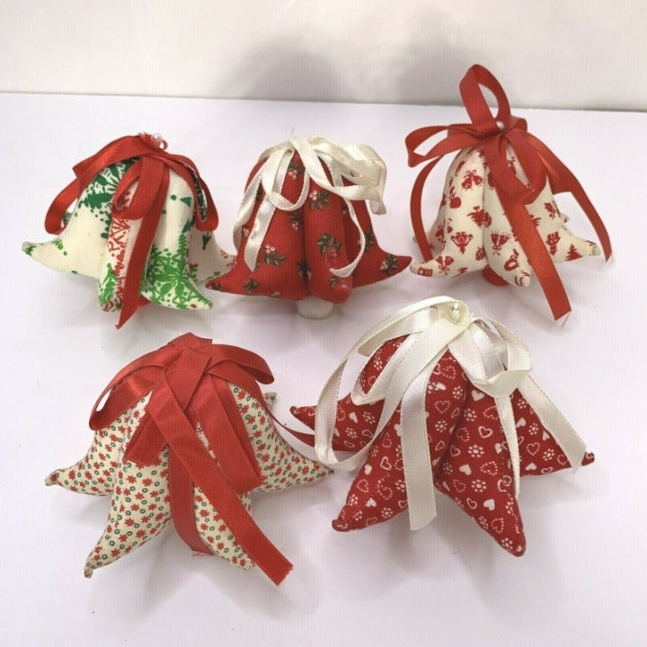 Quilted Fabric Christmas Ornament Balls