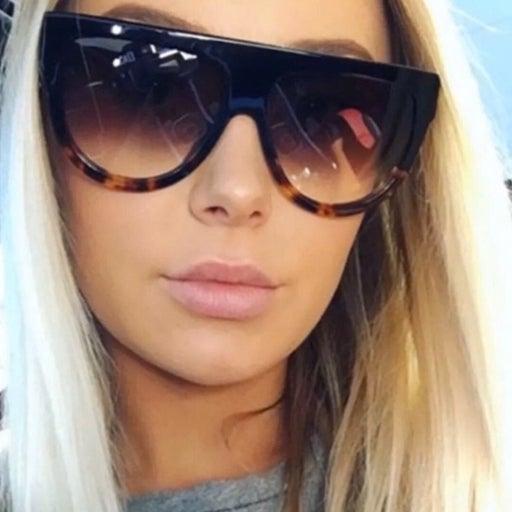 Ombre Flat Top Sunglasses