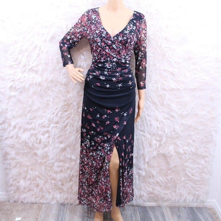 Kay Unger Sheath Floral Dress