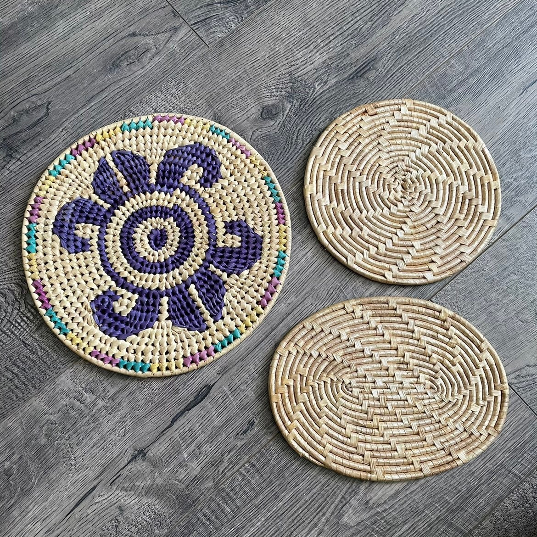 Set of 3 woven trivets
