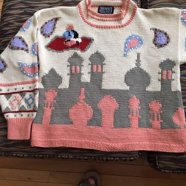 Vintage Berek Hand Knit Sweater
