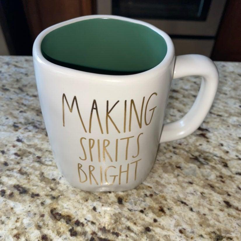 Rae Dunn Making Spirits Bright Mug