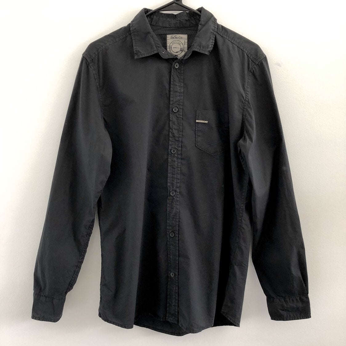 Diesel Black Button Front Dress Shirt
