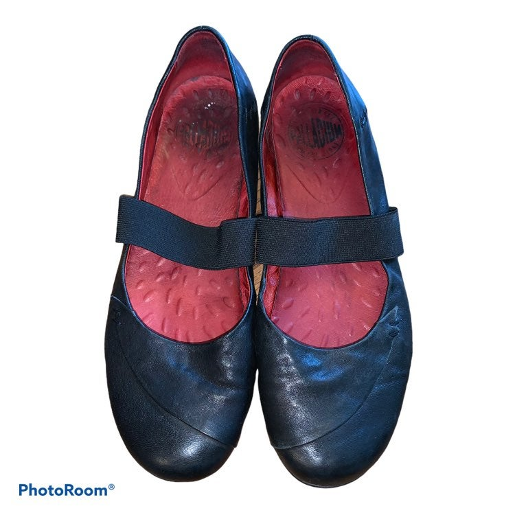 Palladium Leather Mary Jane Ballet Flats
