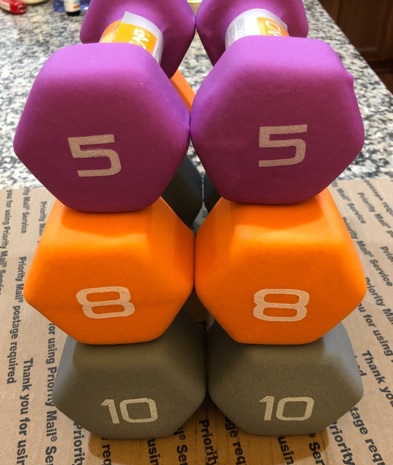 Cap dumbbells - 10,8,5 lbs -total 46 lbs