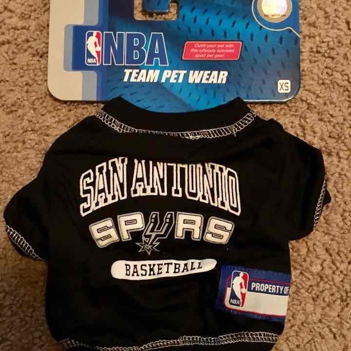 San Antonio Spurs NBA Dog Tee Shirt XS