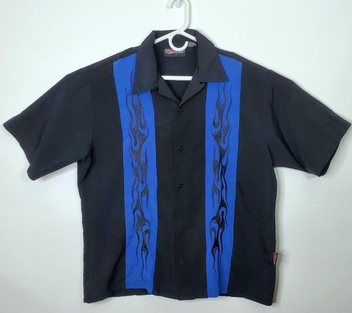 Vtg 90's Sapphire Lounge Button up Shirt