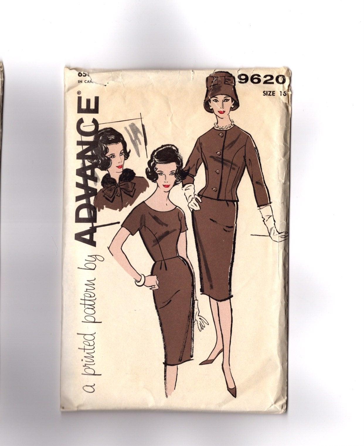 Vintage 1960s Pattern Dress & Jacket