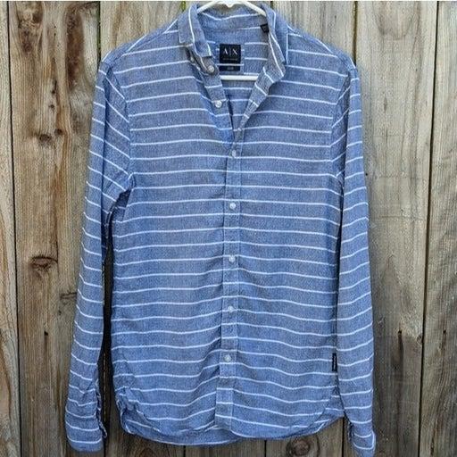 Armani Exchange Men's Striped Shirt