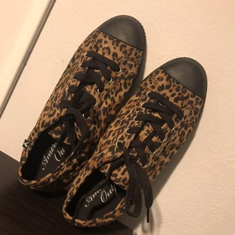 American Eagle Leopard Sneakers, 9.5