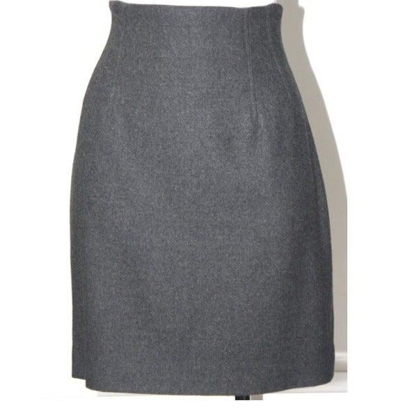 Rene Lezard Grey Wool Skirt  Size 4