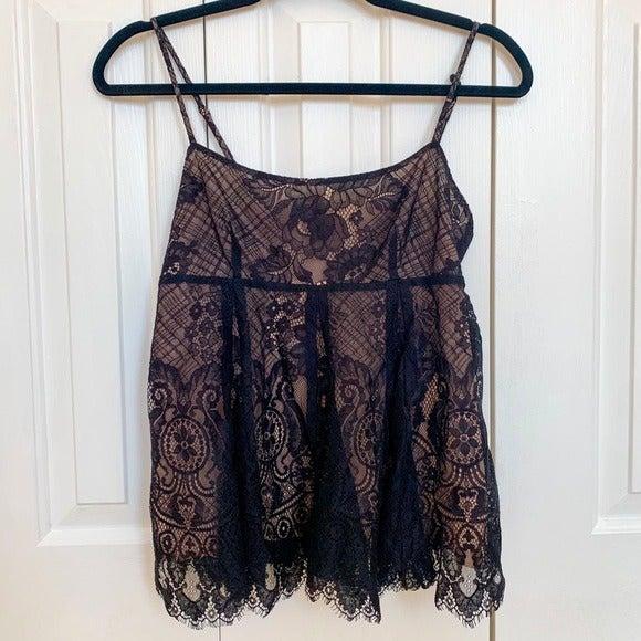 BCBGMaxAzria Black Lace Top