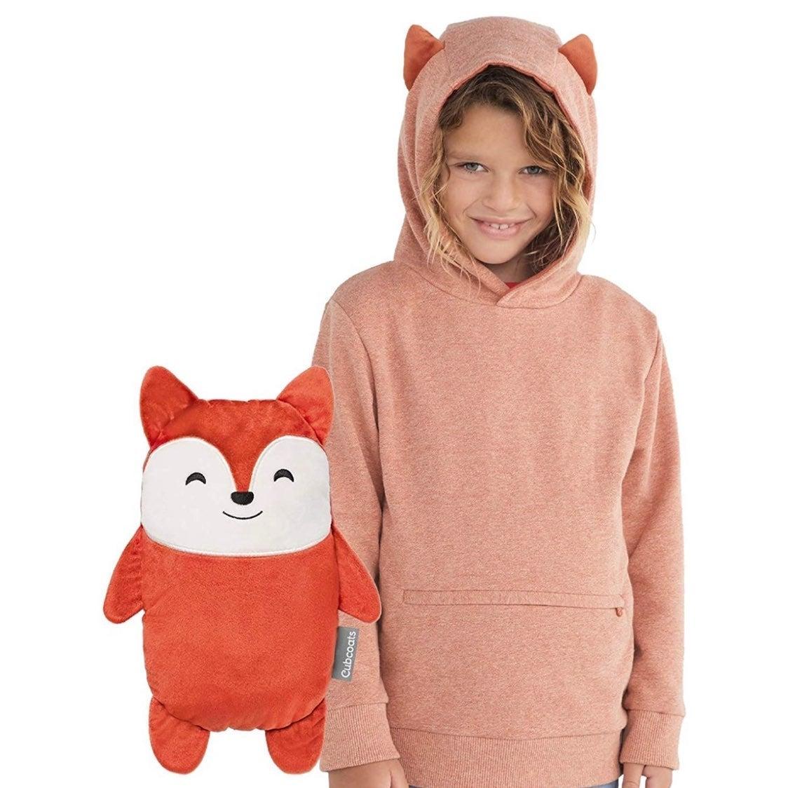 Transforming Pullover Hoodie Fox 2T NWT