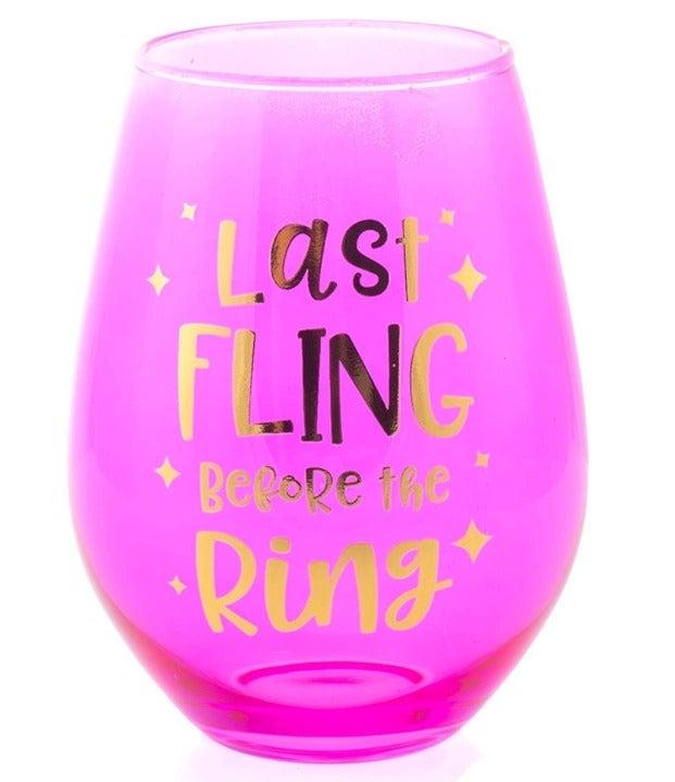 """Last Fling Before the Ring"" Jumbo Wine"