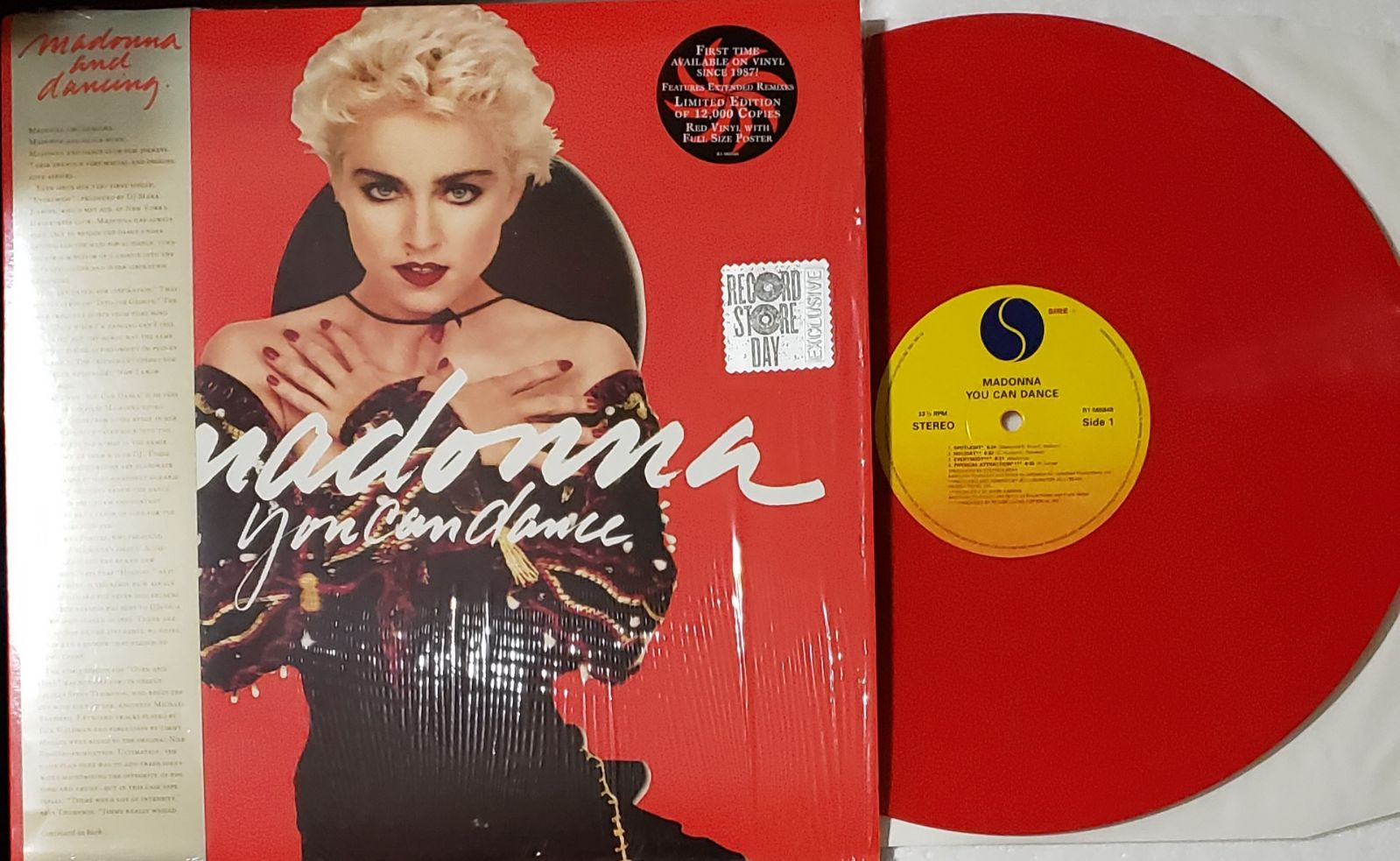 "Madonna You Can Dance 12"" Red Vinyl"