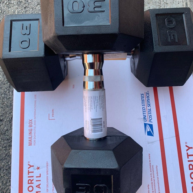 CAP standard rubber coat dumbell 30lb x2