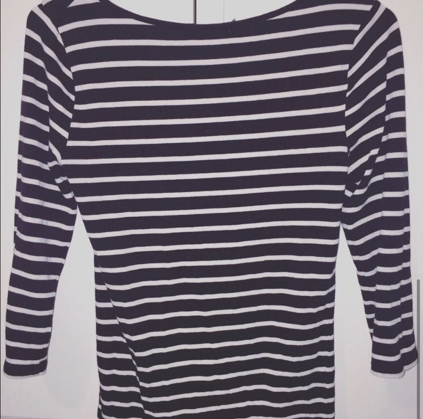Forever 21 Black and White Striped Long