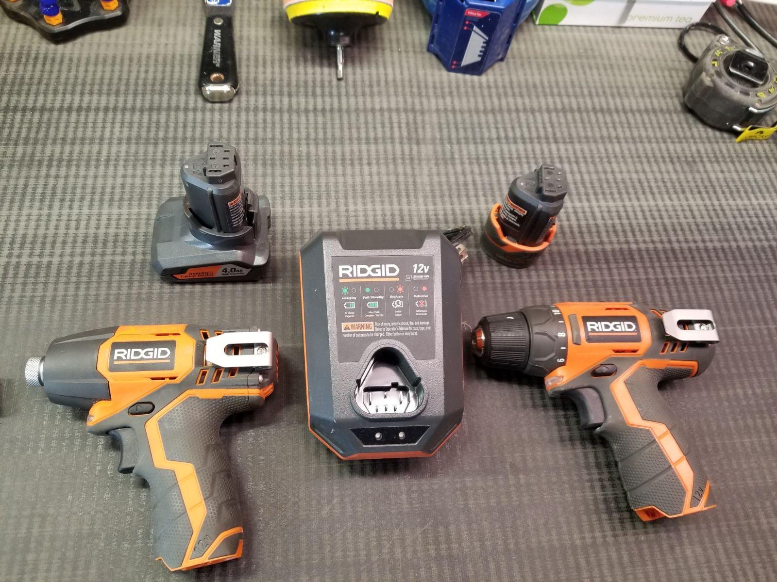 Ridgid 12V Drill and Impact Driver Kit