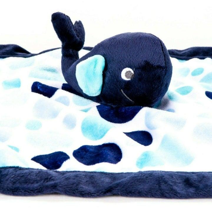 Carters Whale Lovey Polka Dot Blue White