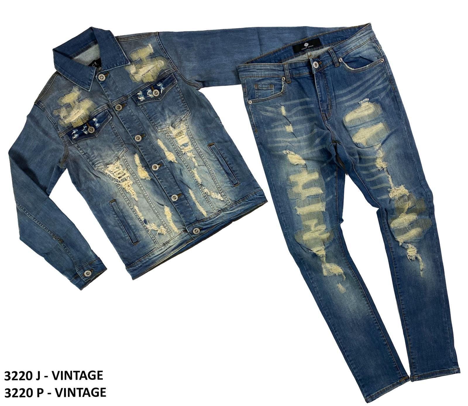 New Men's biker jeans Set