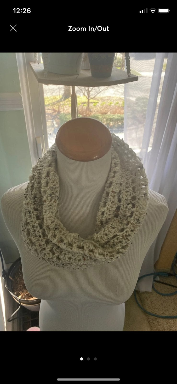 Crochet Oatmeal Scarf - One Size