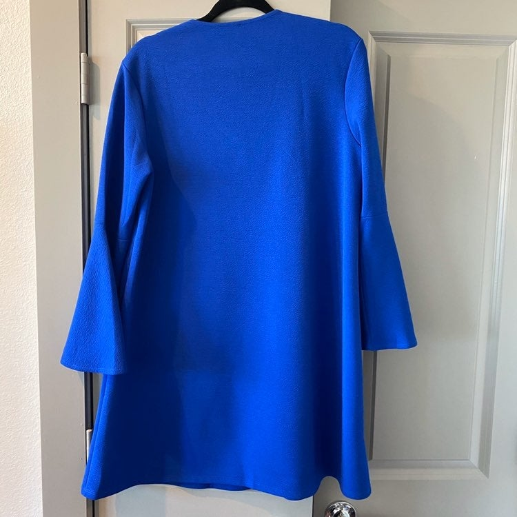 Women's Blue Dress with flair sleeves