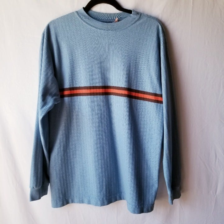 VTG NO FEAR Long Sleeve Stripe Shirt M/L