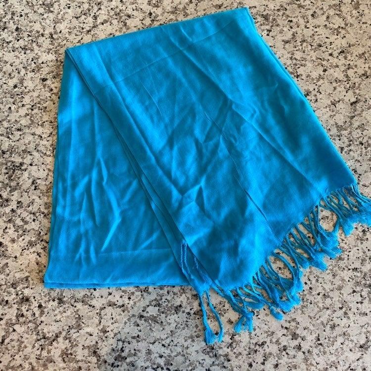 Teal blue pashmina scarf