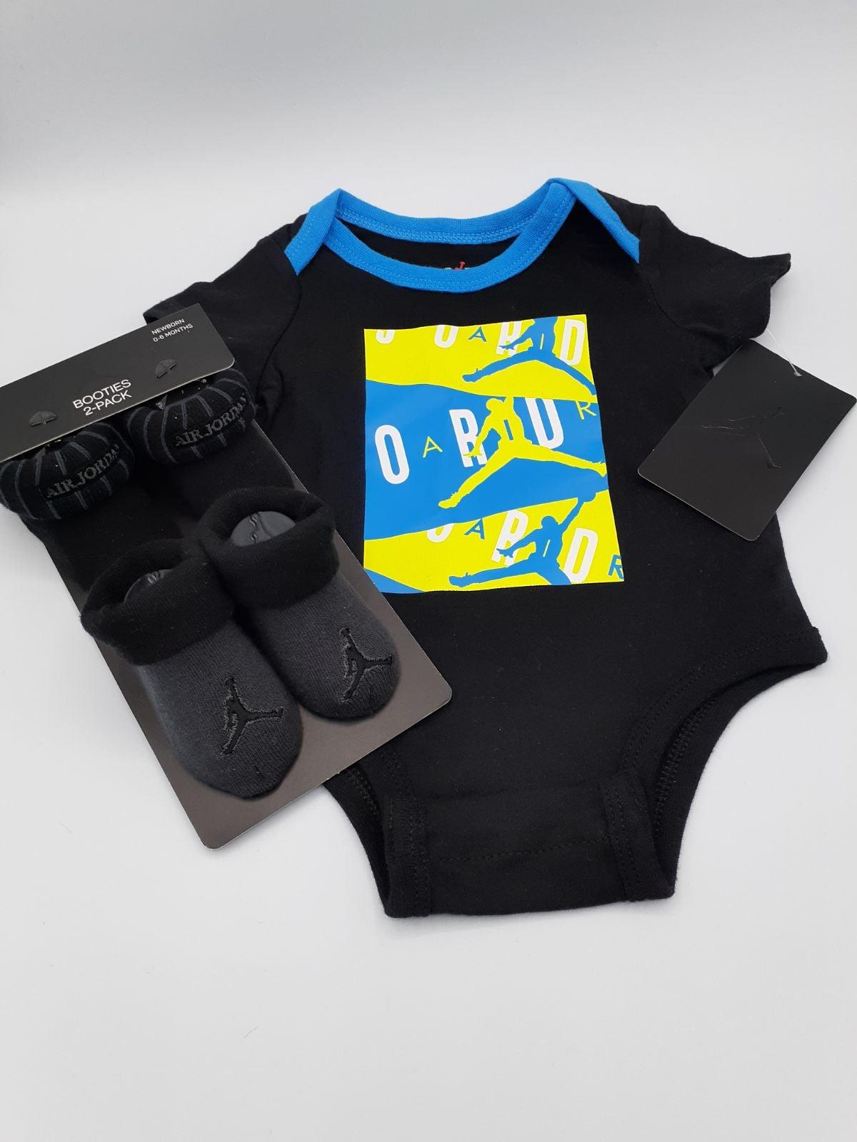 JORDAN BABY BOY ONESIE BOOTIES SET NWT