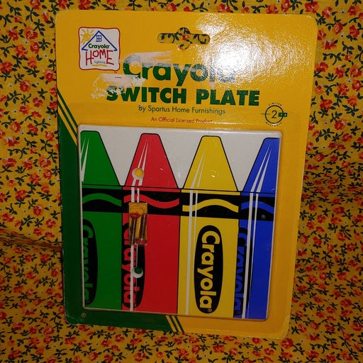 Vintage 90s Crayola Switch Plate