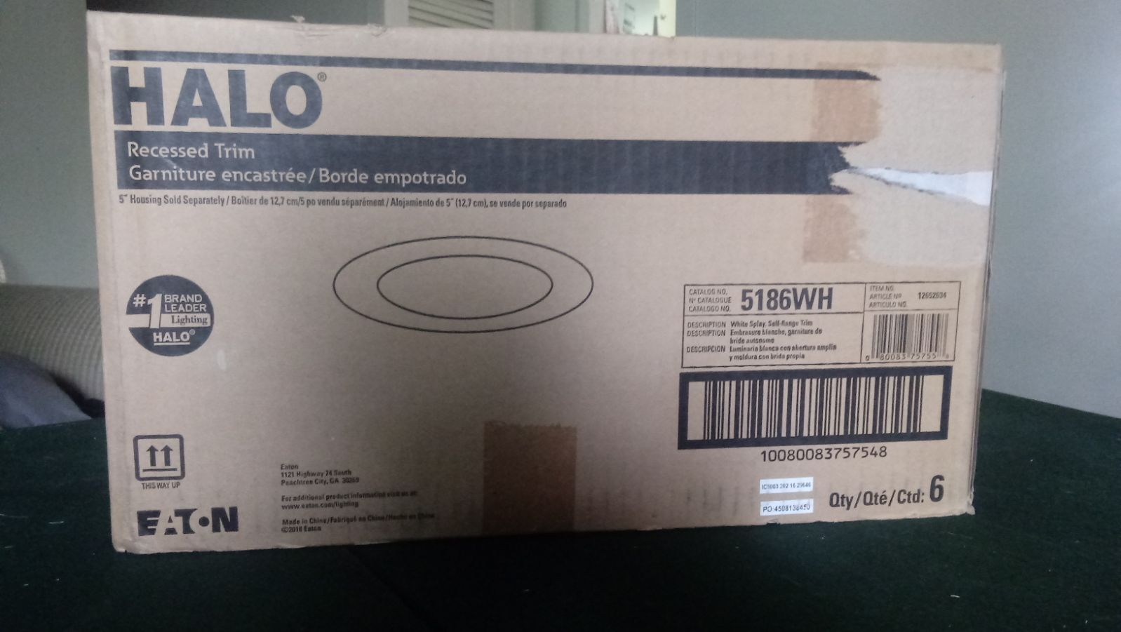 """Halo lighting 5"""" recessed 2 boxes"""