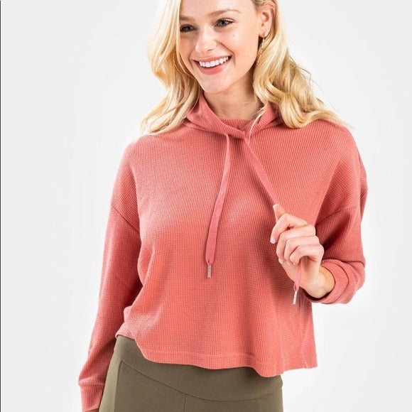 Francesca's Lesly Waffle Knit Pullover