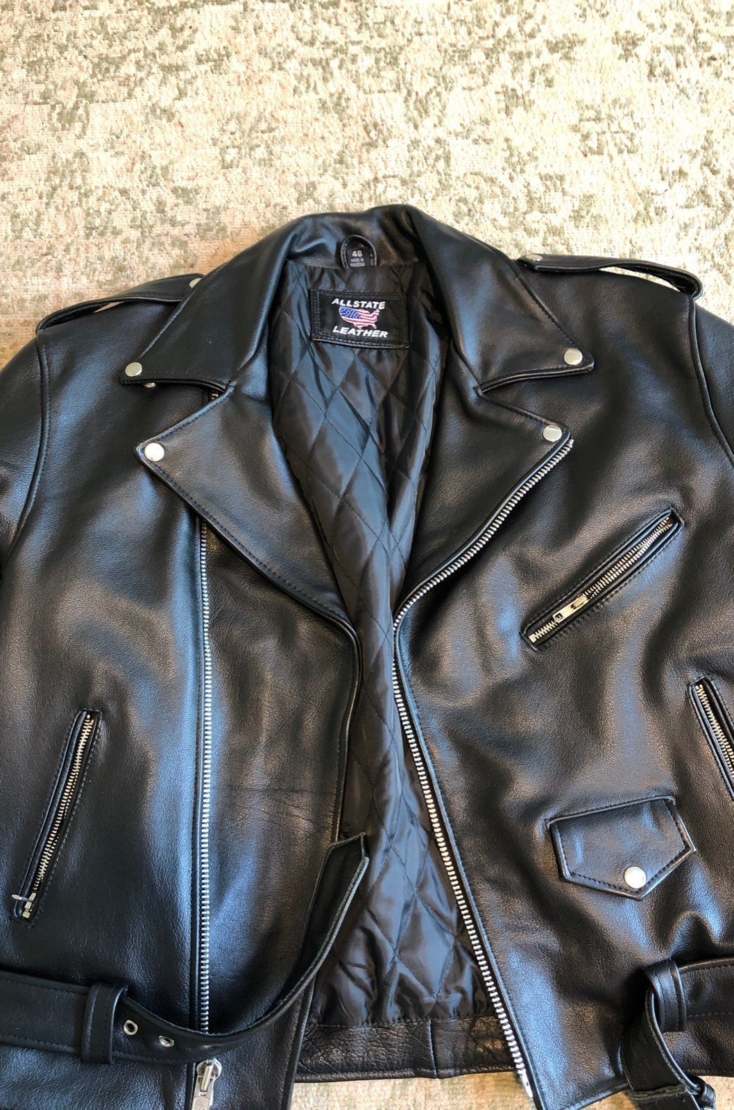 Allstate Leather Biker Mens sz 48 XXL