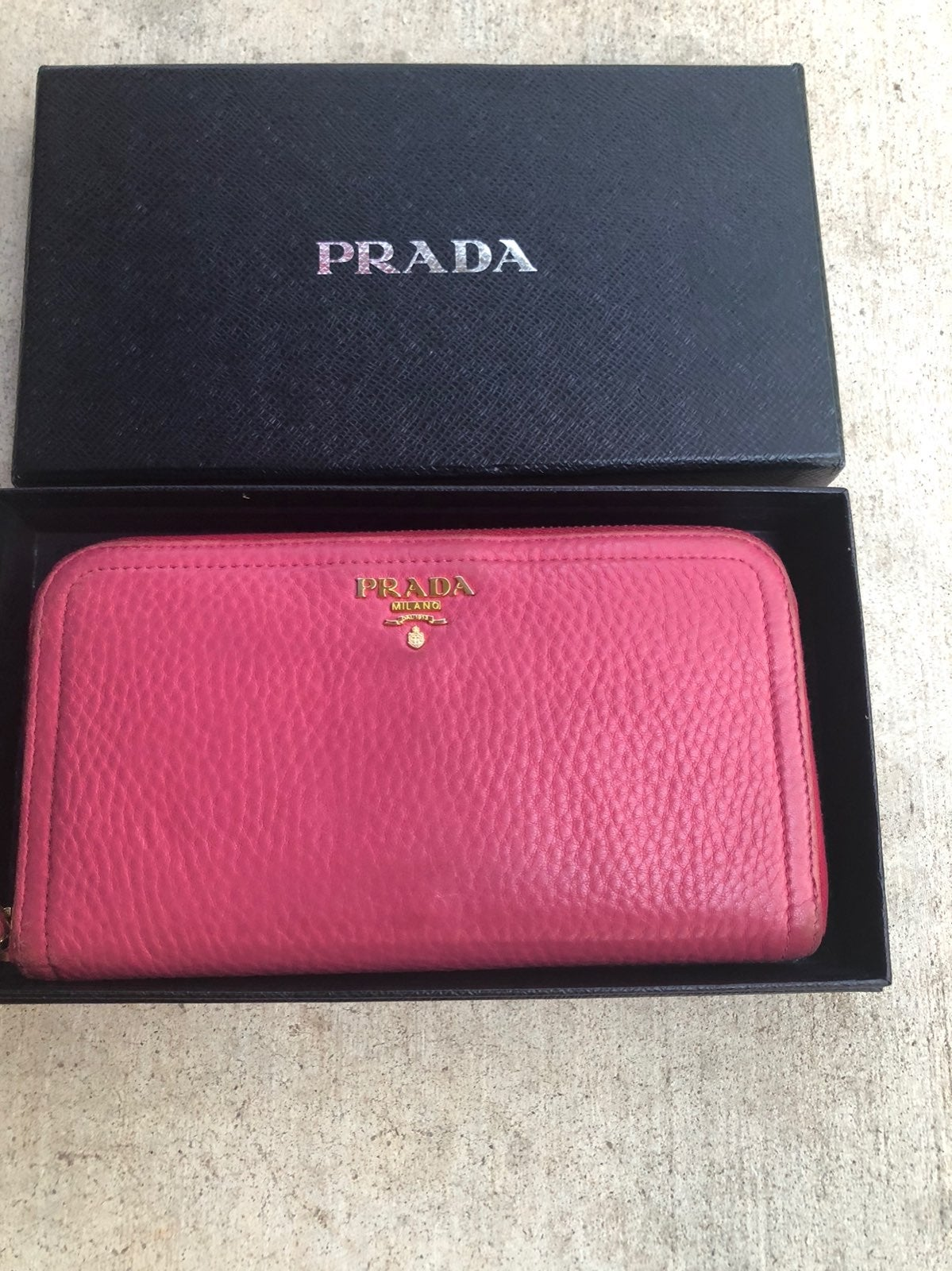 Prada Pink Zippy Wallet