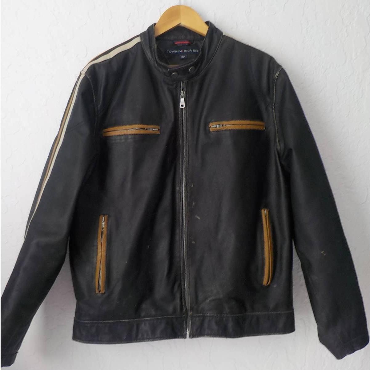 Tommy Hilfiger Moto Jacket Black Leather